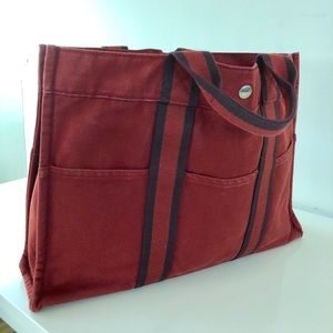 Hermes Canvas School Office Bag